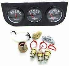 New Triple AUTO Gauge Kit Amp Water Temp Oil Car & Truck Parts Automotive