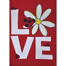 "Ladybug Love 28"" X 40"" Porch Flag 26-2729-34 Rain Or Shine Spring Seasonal"