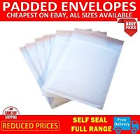 100 x D/1 WHITE PADDED BUBBLE BAGS ENVELOPES  (EP4 W) 170x245mm