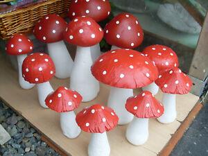 Pilze aus Beton, handgemacht, Deko, Garten, Neu
