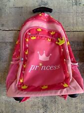 Pink Rolling Luggage - Princess With Wheels Rolling Backpack NEW