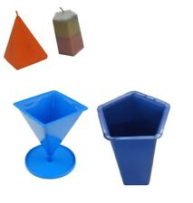 Set x 2, Pentagon 5 Sided Pillar Candle Mould & Pyramid Shaped Mould S7606