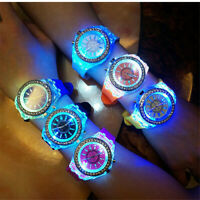 Fashion Women Ladies Wrist Watch Sport Waterproof LED Backlight Crystal Quartz