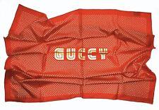 Gucci SEGA Stars Scarf Red 100% Silk Twill New