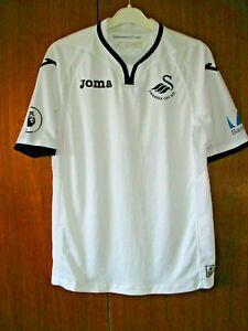 Swansea City Football Shirt Joma Home Shirt size age 13/14 YXL HOWELLS PL patch