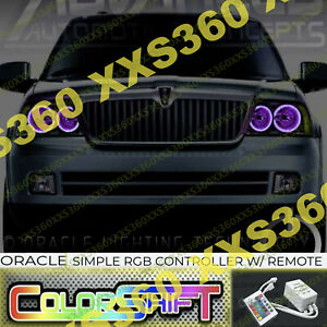 ORACLE Halo 2x HEADLIGHTS for Lincoln Navigator 03-06 ColorSHIFT LED Simple RGB