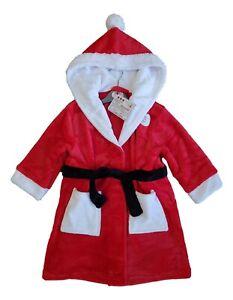 Dressing Gown Boys Girls Kids Christmas Xmas PJs Pyjamas Long PJ Gift Cotton