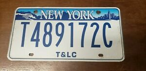 """NEW YORK """"T&LC"""" ( TAXI AND LIMOUSINE COMMISION ) license plate USED"""