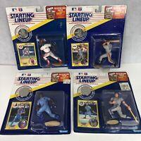 STARTING LINEUP 4 FIGURES LOT baseball 1991 Barry Larkin Will Clark Gruber DeShi
