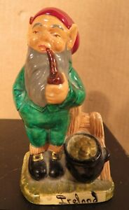 Vintage Manor Ware Leprechaun With Pot of Gold Figurine /Ireland