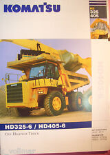 ✪ viejo folleto original/sales brochure Komatsu Truck hd325-6/hd405-6