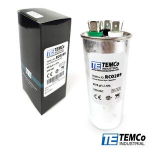 TEMCo 45+5 uf/MFD 370 VAC volts Round Dual Run Capacitor 50/60 Hz -Lot-1