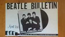 The Beatles  - Beatle Bulletin April'66 (Official National (US) Beatles Fan Club