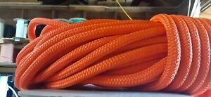 "1/2"" x 70 ft.Premium Double Braid-Yacht Braid Polyester Rope.Bright Orange."