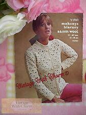 Vintage Crochet Pattern Lady's Elegant Sophisticated Jacket JUST £2.99 Free P&P!
