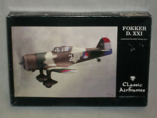 Classic Airframes 1/48 Scale Fokker D. XXI