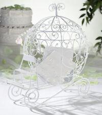 Fairy Tale White Beaded Coach Card Holder Wedding card box holder