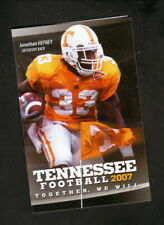Tennessee Volunteers--2007 Football Pocket Schedule--First Tennessee