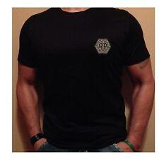 Philipp Plein Herren T-Shirt Neu Fashion Gr.S Designer  Shirt Kurzarm Schwarz