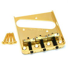 Wilkinson Gold Compensated Brass 3-Saddle Bridge for Fender Telecaster/Tele®