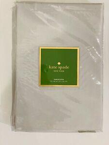 "Kate Spade New York Larabee dot tablecloth 70"" x 86"" COTTON blend Platinum, gray"
