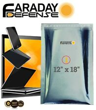1 Premium 7.0mil Faraday Cage EMP Bag BULK LOT iPhone X-LARGE Laptop Preppers
