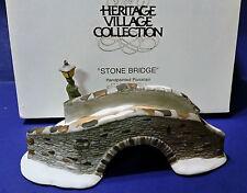"Dept 56 65463 "" Stone Bridge "" Heritage Village Collection Retired W/Box"