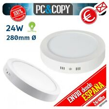 R1113 Plafon Techo Panel LED Superficie 24W Luz Blanca Circular 280mm Downlight