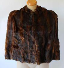 Vintage FUR CAPE Dark Brown WRAP/SHRUG/SHAWL/JACKET/STOLE