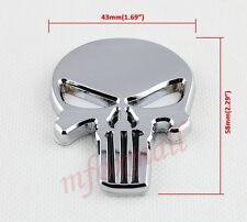 Auto Accessories 3D Chrome Skull Pirate Head Emblem Badge Sticker Decal Trim