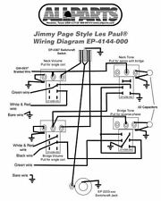Wiring Kit for Gibbson Jimmy Page Les Paul Complete w/Diagram Pots Switch Wire