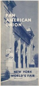 Pan American Union at the 1939 New York World's Fair Brochure Central & South