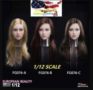 "1/12 Anna Female Head Sculpt For 6"" figure Pale Phicen Tbleague T01A T03A ❶USA❶"