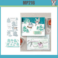 New Arrival FUN'FREEZIN Metal Cutting Dies and stamps DIY Scrapbooking Card