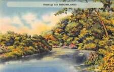Osborn Ohio Greetings Scenic View Antique Postcard J80189