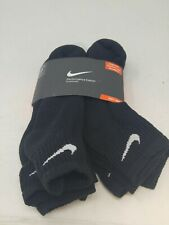 Nike Quarter Performance Cotton Cushioned Socks Men's Shoe Size 8-12