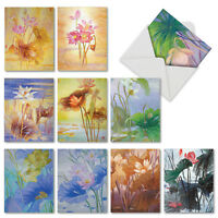 10 Assorted All Occasion Blank Note Cards Boxed - FLORAL HARMONY M6728TYG