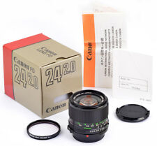 CANON LENS FD 24mm 1:2,0 - BOXED, COMPLETE, 100% MINT CONDITION A+, like NEW !!!