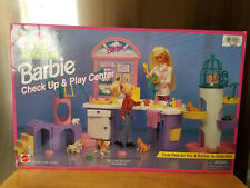 Vintage Barbie Check Up And Play Center Pet Doctor Mattel Toy Set 1996