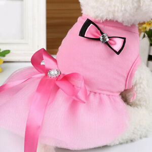 Pet Small Dogs Lace Tutu Bow Dress for Cat Kitten Puppy Dog Pet Costume Dress-Up