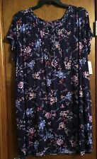 Croft & Barrow Women's Printed Short Sleeve Nightgown Size Small