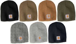 Carhartt Acrylic Beanie Knit Men's Stocking Cap Warm Winter Hat Authentic
