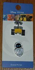 Disney Pixar Wall-E & Eve 2 Pin Set Loungefly New on Card