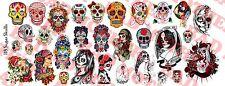 1/6 Scale Custom Tattoos: Sugar Skulls variety pack - Waterslide Decals