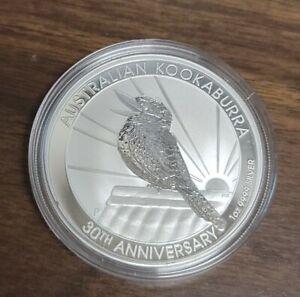 2020 P  Australia $1 Silver Coin - Australian Kookaburra - 30th Anniversary