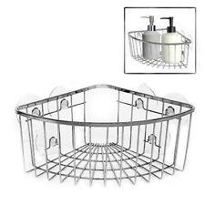 1T Caddy Shower Corner Chrome Bathroom Basket Shelf Storage Wire Organizer DCUK