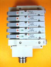 SMC -  Manifold w/ 3 Each SV2200-5FU, 2 Each SV2100-5FU Solenoid Valves