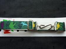 Cinturón De Serpiente NIÑO /Infantil/Infantil - Verde Con Dinosaurio motivos