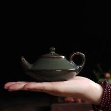 Crackle Glaze Ge Kiln Celadon Porcelain Longquan Teapot Tea Pot Tire Iron 135ml