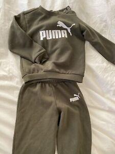 Boys Khaki Puma Tracksuit 9-12 Months